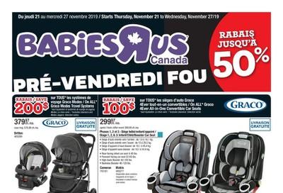 Babies R Us (QC) Flyer November 21 to 27