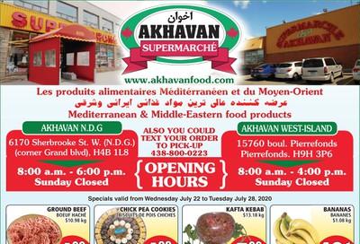 Akhavan Supermarche Flyer July 22 to 28