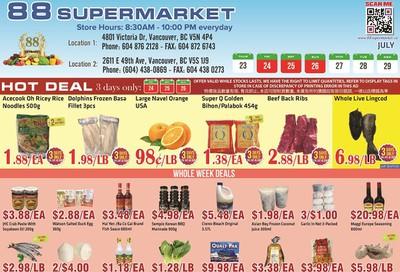 88 Supermarket Flyer July 23 to 29