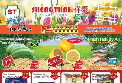 Shengthai Fresh Foods Flyer July 24 to August 6