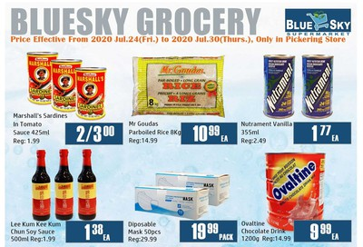 Blue Sky Supermarket (Pickering) Flyer July 24 to 30