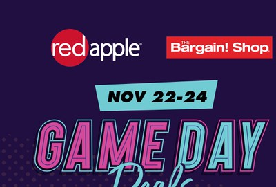The Bargain Shop and Red Apple Stores Flyer November 22 to 24