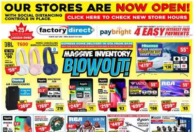 Factory Direct Flyer July 29 to August 5