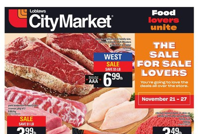 Loblaws City Market (West) Flyer November 21 to 27