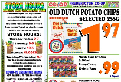 Fredericton Co-op Flyer July 30 to August 5