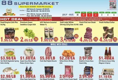88 Supermarket Flyer July 30 to August 5