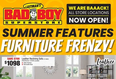 Lastman's Bad Boy Superstore Flyer July 30 to August 12