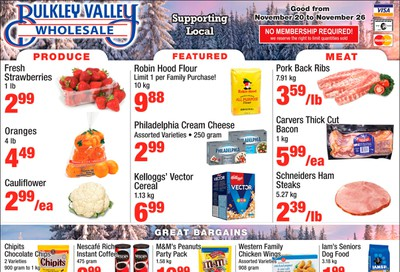 Bulkley Valley Wholesale Flyer November 20 to 26