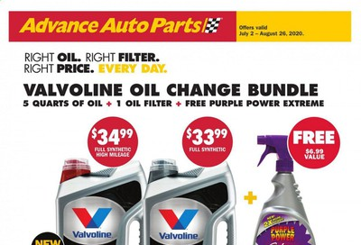 Advance Auto Parts Weekly Ad July 2 to August 26