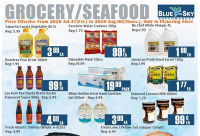 Blue Sky Supermarket (Pickering) Flyer July 31 to August 6