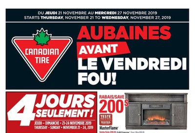 Canadian Tire (QC) Flyer November 21 to 27