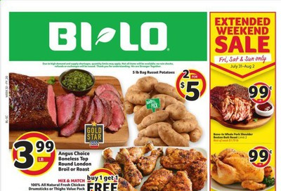 BI-LO (SC) Weekly Ad July 29 to August 4