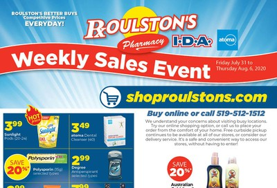 Roulston's Pharmacy Flyer July 31 to August 6