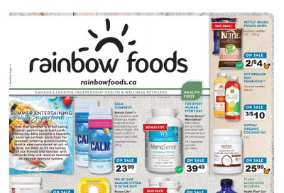 Rainbow Foods Health First Flyer August 1 to 31