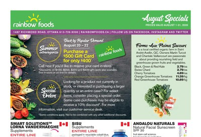 Rainbow Foods Flyer August 1 to 31