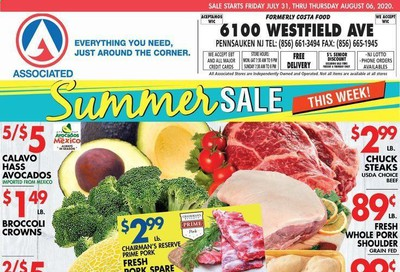 Associated Supermarkets Weekly Ad July 31 to August 6