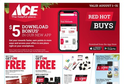ACE Hardware Weekly Ad August 1 to August 31