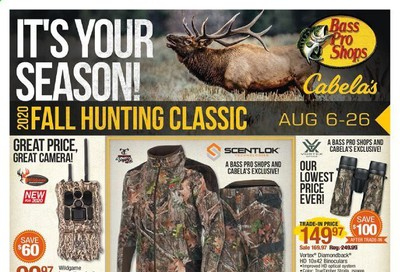 Bass Pro Shops Weekly Ad August 6 to August 26