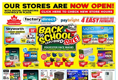 Factory Direct Flyer August 5 to 12