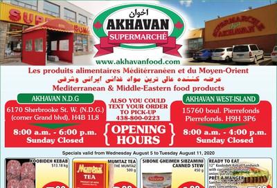 Akhavan Supermarche Flyer August 5 to 11