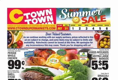 C-Town Weekly Ad July 31 to August 6