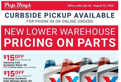Pep Boys Weekly Ad July 26 to August 22