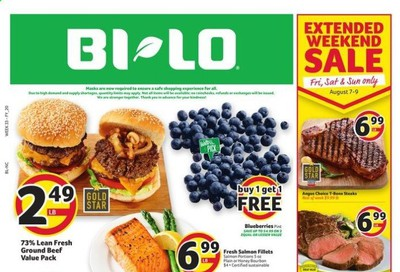 BI-LO (NC) Weekly Ad August 5 to August 11