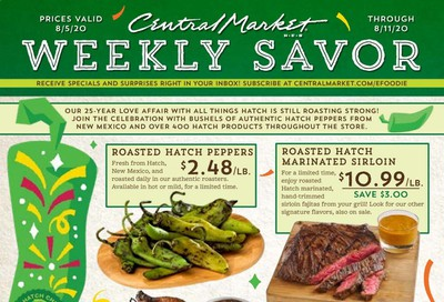 Central Market Weekly Ad August 5 to August 11