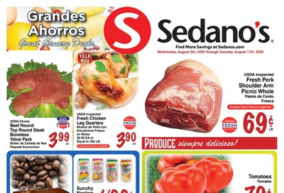 Sedano's Weekly Ad August 5 to August 11