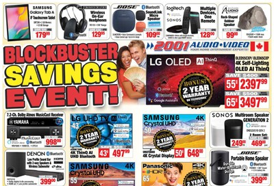 2001 Audio Video Flyer August 7 to 13