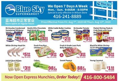 Blue Sky Supermarket (North York) Flyer August 7 to 13