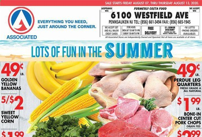 Associated Supermarkets (NJ) Weekly Ad August 7 to August 13
