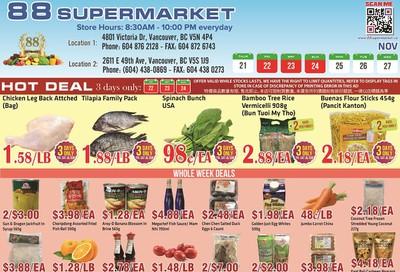 88 Supermarket Flyer November 21 to 27