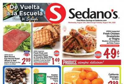 Sedano's Weekly Ad August 12 to August 18