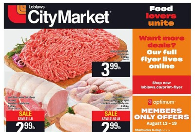 Loblaws City Market (West) Flyer August 13 to 19
