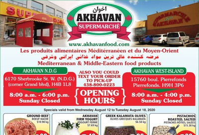 Akhavan Supermarche Flyer August 12 to 18