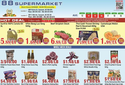 88 Supermarket Flyer August 13 to 19