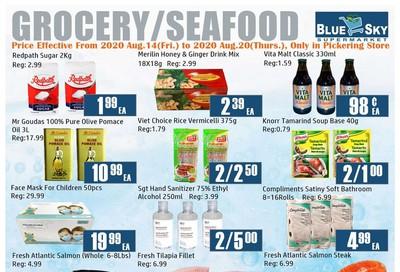 Blue Sky Supermarket (Pickering) Flyer August 14 to 20