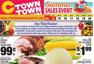 C-Town Weekly Ad August 14 to August 20