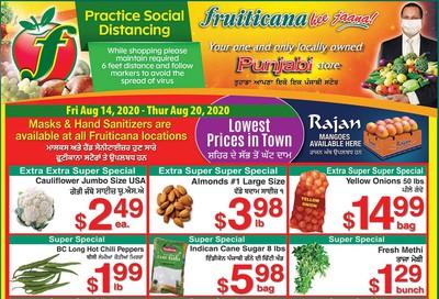 Fruiticana (Calgary) Flyer August 14 to 20