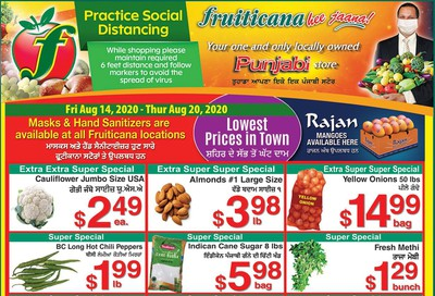 Fruiticana (Edmonton) Flyer August 14 to 20