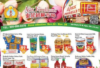 Ajax Foodmart Flyer November 22 to 28