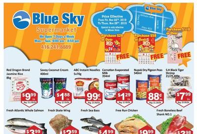 Blue Sky Supermarket (North York) Flyer November 22 to 28