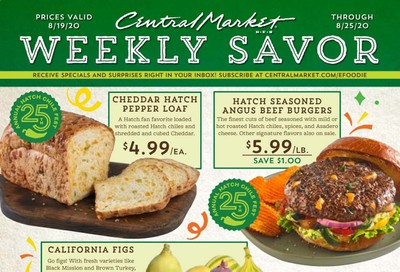 Central Market Weekly Ad August 19 to August 25
