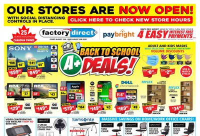 Factory Direct Flyer August 19 to 26