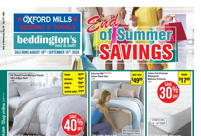 Beddington's Flyer August 19 to September 15