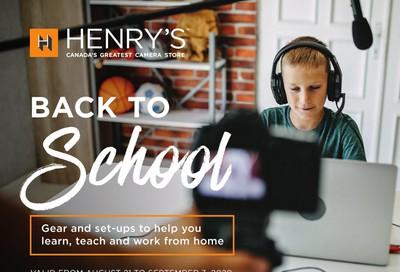 Henry's Flyer August 21 to September 3