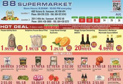 88 Supermarket Flyer August 20 to 26