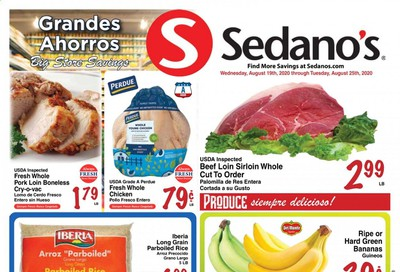 Sedano's Weekly Ad August 19 to August 25