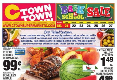 C-Town Weekly Ad August 21 to August 27